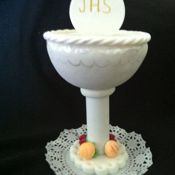 First Communion Cake Topper, First Communion, First Communion Chalice, First Communion Decoration, First Communion Favor, Chalice Topper