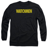 Watchmen Logo Black Long-Sleeve T-Shirt