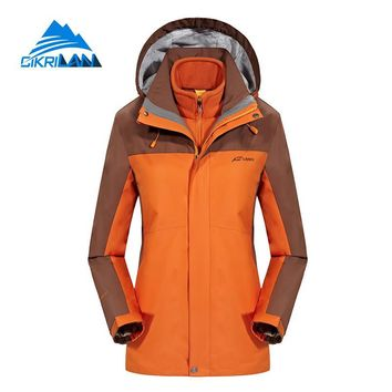 Winter Outdoor Sport Hiking Camping Ski Waterproof Jacket Women Windbreaker Snowboard Climbing Coat Fleece Liner Casaco Feminino