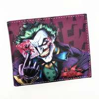 Wallet Comics Movies Suicide Squad The Joker Harley Quinn Enchantress And Bat Man Short Wallets With Card Holder Purse