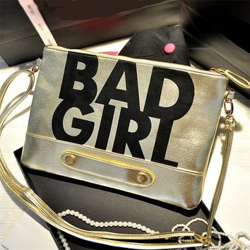 Clutches Evening Bag bad girl Envelope leather ladies purse