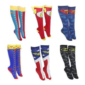 Superman Cape Stockings Socks Batman Socks party Socks Avengers alliance Wonder Woman men's and women's Socks