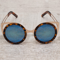 Rin Round Sunglasses - Tiger/Blue