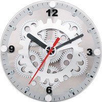Small Moving Gear Clock for Wall or Desk