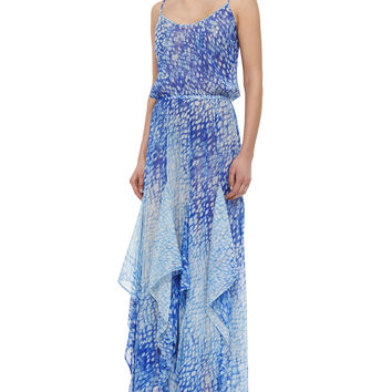 Women's Sorrento Printed Flutter Dress - MICHAEL Michael Kors - Blue multi