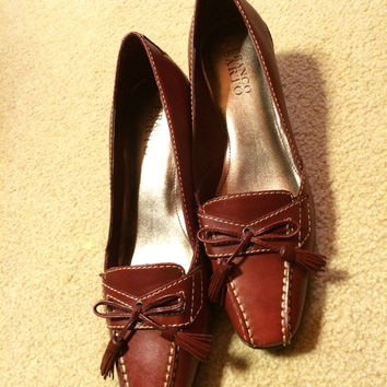 Franco Sarto Red Heeled Pumps Sz. 7 (Small/Indie Brands)
