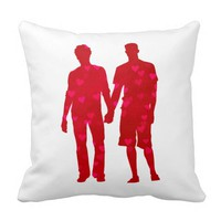 Valentine's Day Gay LGBT Pride Pillow