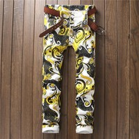 Casual Print Korean Club Pants [10766088323]