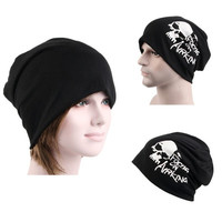 Mens Womens Hip-Hop Warm Winter Cotton Knit Ski Beanie Skull Letter Cap Scarf Unisex Hat Headwear = 1958000900