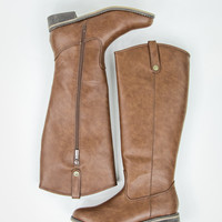 Radiant Rider Boots in Tan