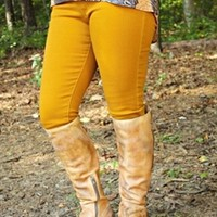 What I Almost Was Skinny Jeans - Mustard