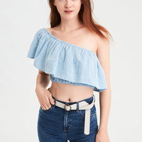 AE One Shoulder Top, Blue