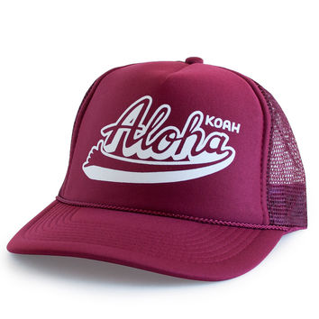 Koah Brand Aloha Hats in Crimson