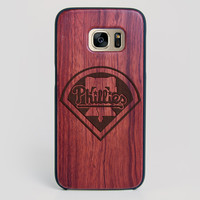 Philadelphia Phillies Galaxy S7 Edge Case - All Wood Everything