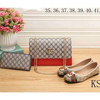 GUCCI 2018 new women's high-quality fashion exquisite three-piece F-KSPJ-BBDL red