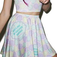 Shellfish Beaches Skater Skirt
