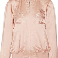 Alexander Wang - Embroidered satin bomber jacket