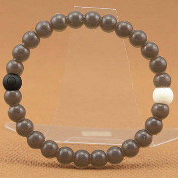 Lokai Bracelet Unique Gray color Jewelry