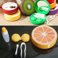 Portable Fruit Style Soak Storage Contact Lens Case Box Holder Container Lovely Travel Pocket Contact Lenses Box