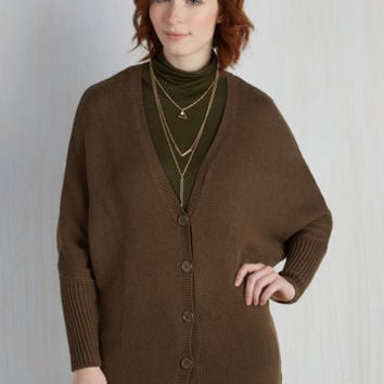 Minimal Mid-length Long Sleeve Simply Speaking Cardigan