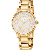 Kate Spade New York - Gramercy Scalloped Mother-Of-Pearl & Goldtone Stainless Steel Bracelet Watch - Saks Fifth Avenue Mobile