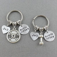 Couples Matching Swole Mates Keychain Set - Couples Keychain - Weight Lifting Keychain - Dumbbell Keychain - Fitness Keychain Work Out Gift