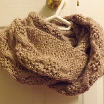Infinity Scarf - Knitted Double-Loop Infinity Scarf - Handmade Scarf