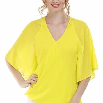 Flutter Sleeve Blouse - Citrus