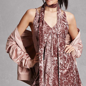 Crushed Velvet Cami Dress