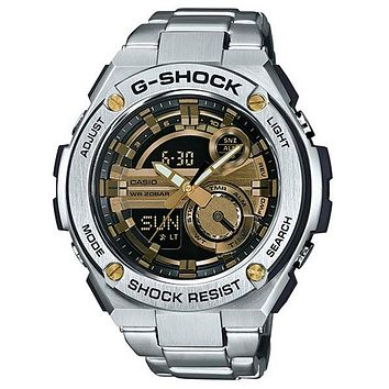 Casio Mens G-Shock G-Steel Watch - Ana-Digi - Bracelet - Gold-Tone Accents