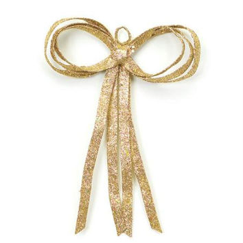 Gold Christmas Bow Decoration - Double Sided