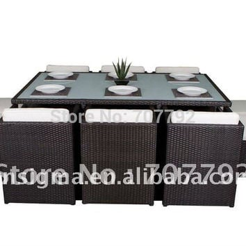 2017 New Rattan/wicker Outdoor Table and Chair