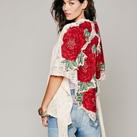 Free People Franciele Roses Shawl