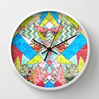 Geometric Quilt Wall Clock by Sandra Arduini
