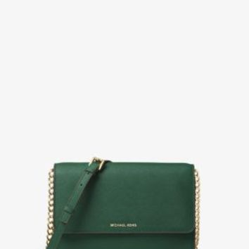Daniela Large Leather Crossbody | Michael Kors