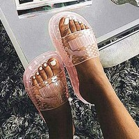 shosouvenir : Puma Fenty Rihanna Slides Crystal Shoes Female Slippers