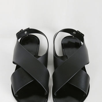 Crossover Banded Jelly Sandals - 5