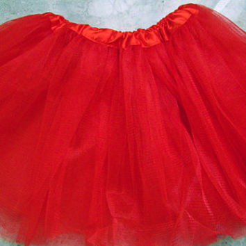 Red Skirt Ballet Tutu Size 6 months - 10 years Baby Tutu, Infant Tutu, Toddler Tutu, Newborn Tutu, Birthday Tutu, Dance Tutu