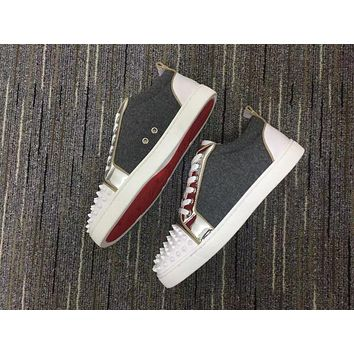 Christian Louboutin Cl Louis Junior Spikes Sneakers Reference 114