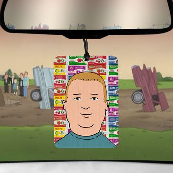 Bobby Hill car Air Freshener King of the Hill Fruit Pie scented