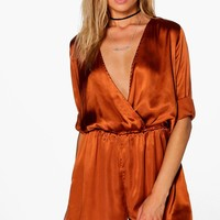 Jennifer Satin Playsuit