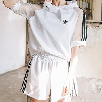 adidas Originals  Short sleeve Top Shorts Two-Piece Set Sportswear