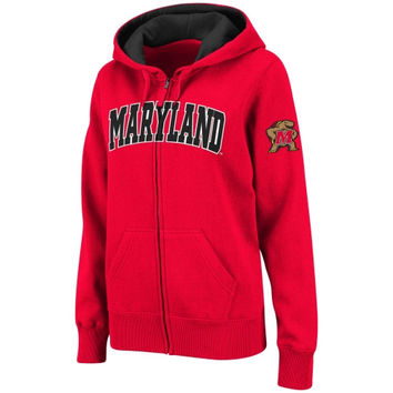 Maryland Terrapins Women's Classic Arch Full Zip Hooded Sweatshirt – Red
