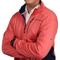 Performance Jersey 1/4 Zip in Jetty Red by Vineyard Vines