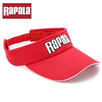 Rapala Red color High quality Fishing Cap High quality Adjustable Washed Cotton Baseball Golf Cap Outdoor Sports