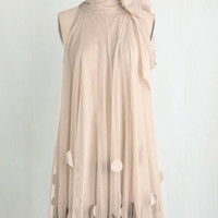Pastel Mid-length Sleeveless Shift All Neutral Dress
