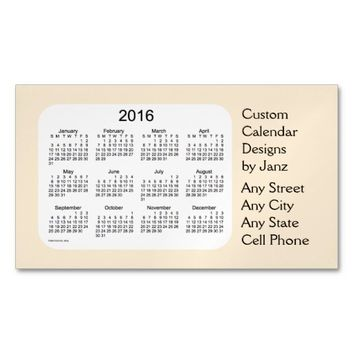 2016 Navaho White Business Calendar by Janz Magnet Magnetic Business Cards (Pack Of 25)