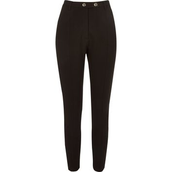 Black high waisted fitted trousers - Skinny Trousers - Trousers - women
