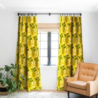 Stylised Daisies Blackout Window Curtain Raven Jumpo