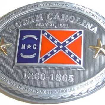 NC Combo Confederate Belt Buckle